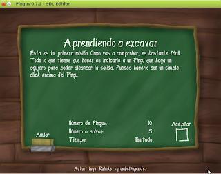 Imagen de Pingus en Ubuntu