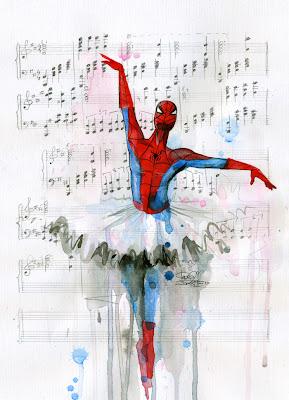 Imagen de Spider-Man con tutú de ballet