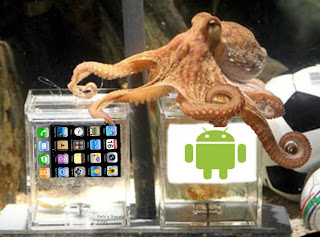 Imagen del pulpo Paul eligiendo Android