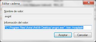Imagen de deshabilitar mensaje del antivirus avira