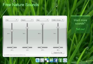 Imagen de Free Natue Sounds para escuchar y crear sonidos relajantes