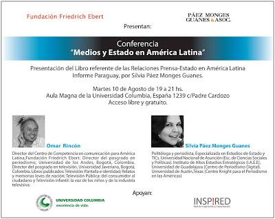 Imagen de la conferencia sobre Medios y Estado en América Latina en Asunción – Paraguay