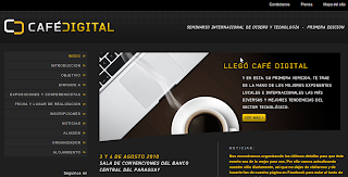 Imagen de la página inicial de Café Digital