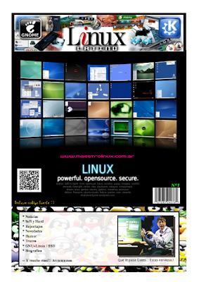 Imagen de la primera edición de la revista Linux Latino