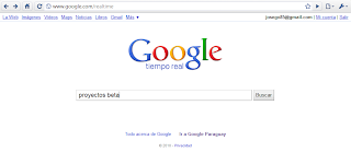 Imagen de la página de inicio de Google Search Realtime