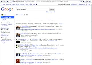Imagen de los resultados de Google Search Realtime