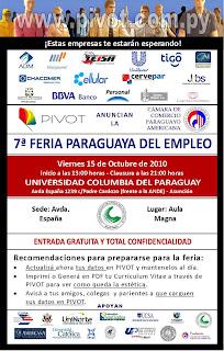 Imagen de la VII Feria Paraguaya del Empleo