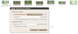 Ejemplo de cambiar la resolución de imágenes en Ubuntu 10.04