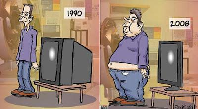 Imagen del hombres versus televisores