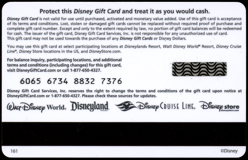 Filmic Light - Snow White Archive: Disney Gift Cards