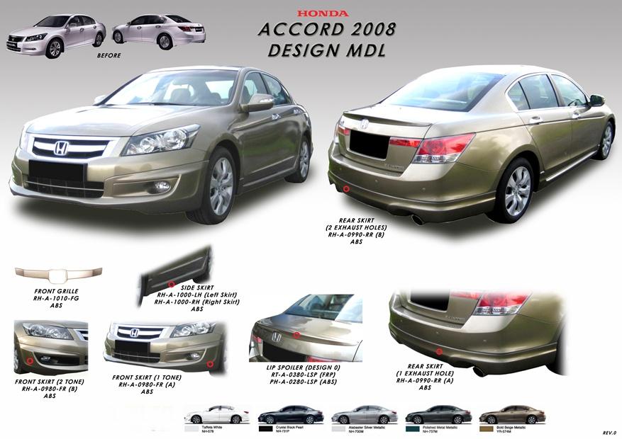 star level auto accessories honda accordmodulobodykits lip spoiler rmnow rm