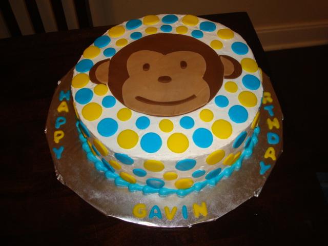 Baking For Our Adoption Gavins Mod Monkey 1st Birthday Cake