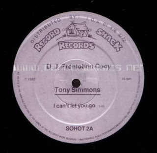 Tony Simmons - I Can't Let You Go (12'' Version) (1983)