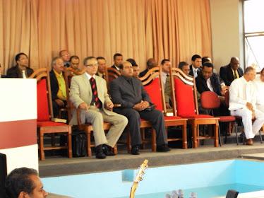 Culto de batismo na A.D. sede do Jaguaré