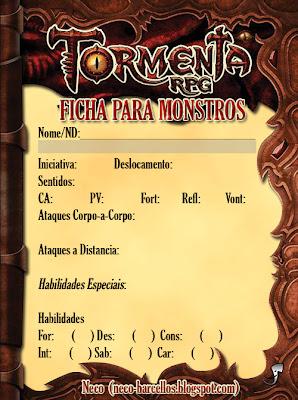 Fichas Para Monstros TRPG