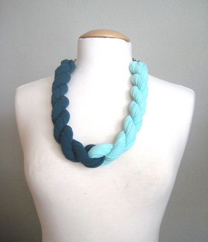 katie company jersey twist necklace