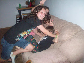 Me tackling my cousin :)