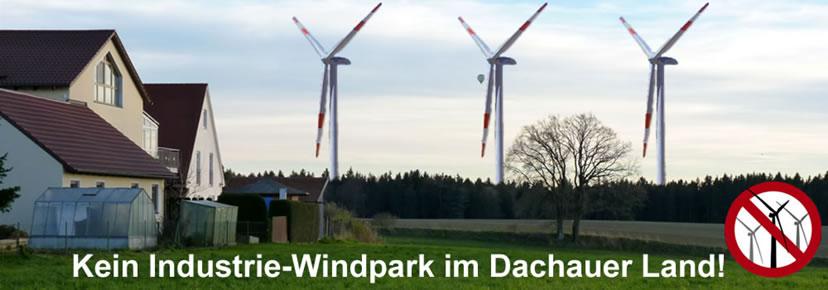 Kein Industrie - Windpark im Dachauer Land!
