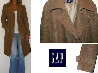 vide dressing chic : Manteau Trench en velours côtelé de GAP