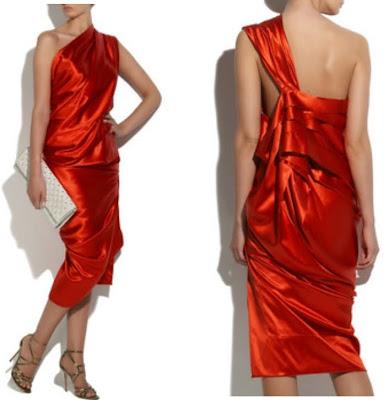 vestido de seda vermelho para casamento