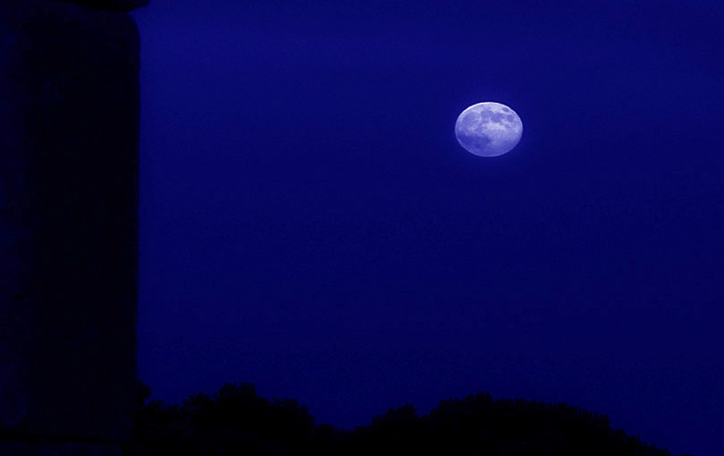 lluna blava luna azul blue moon cel cielo skye