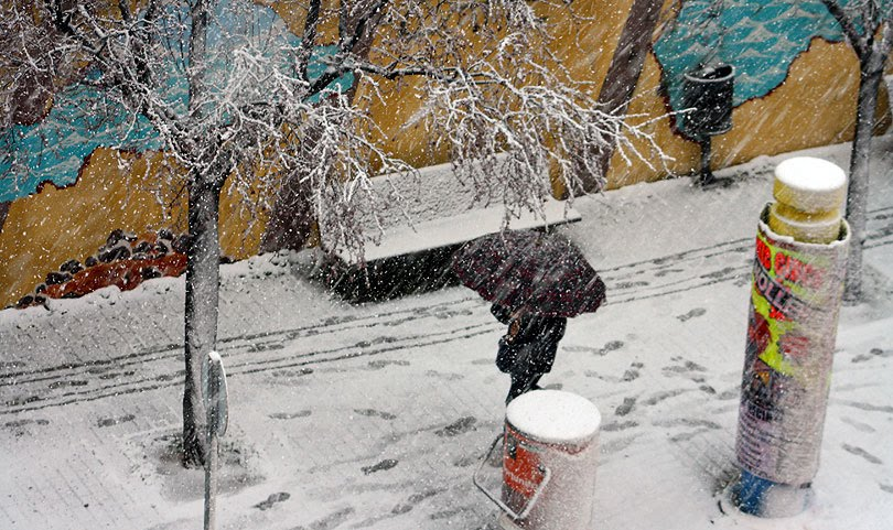 neu nieve snow març marzo march paraguas paraigua umbrella canovelles