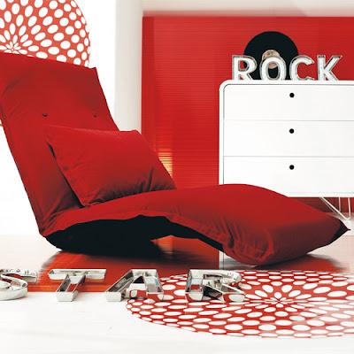 Fauteuil relax rouge chez Maison du monde