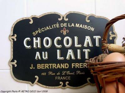 Plaque chocolat au lait retrodeco.fr