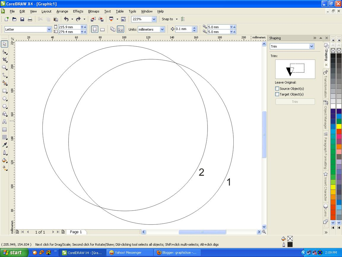 Menggambar Bulan Sabit Dengan Teknik Shaping Pada Corel Draw Corel Draw