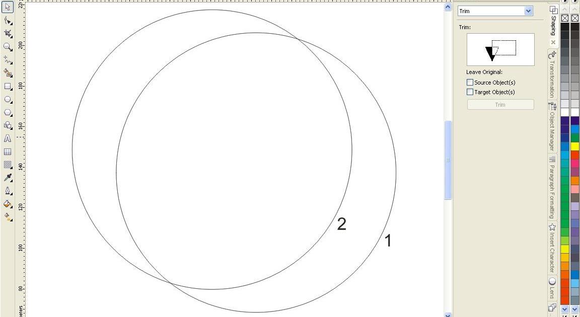 graphickoe: Menggambar Bulan Sabit Dengan Teknik Shaping Pada Corel Draw