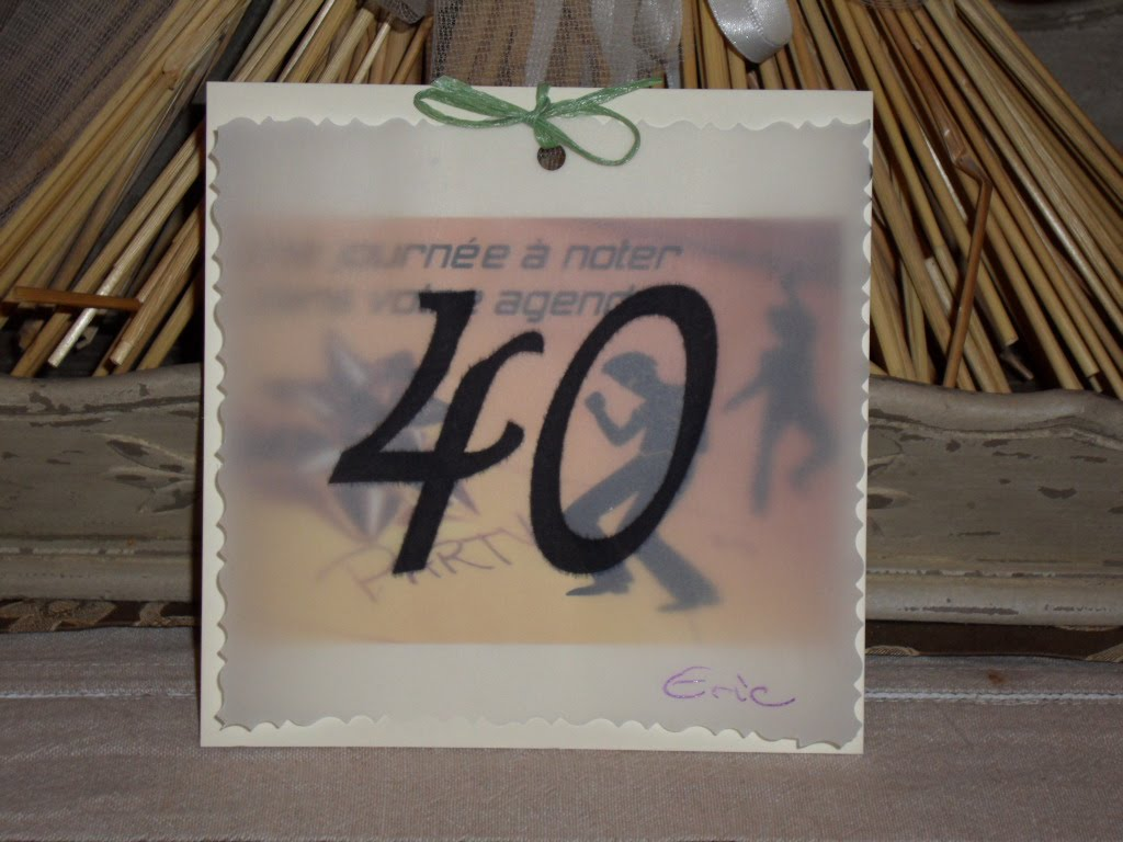 carte d invitation pour les 40 ans de mon epoux le 26 aout 2006 pictures. Black Bedroom Furniture Sets. Home Design Ideas