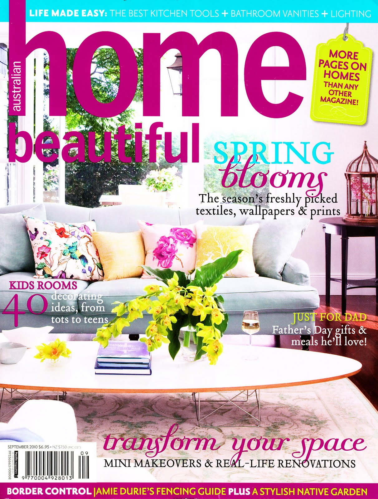 Beautiful Homes Magazine ampersand design: magazine sneaky peek - home beautiful sep 2010