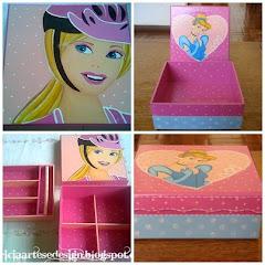 Caixa Barbie e Cinderela