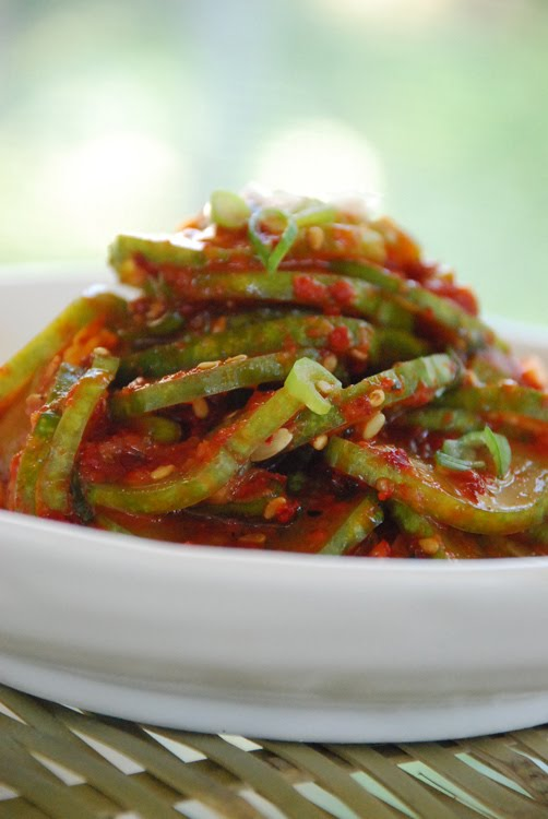 Oi Muchim (Spicy Cucumber Salad) - Korean Bapsang