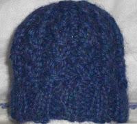 Knit alpaca preemie hat 2