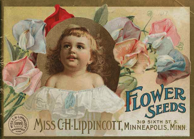 Miss C.H. Lippincott seedswoman, seed companies owned by women, seed catalog