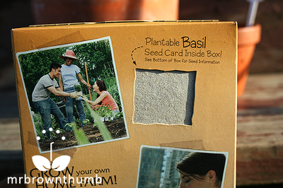 Home Farming Plantable basil seed card