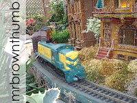 Chicago Water Tower in model train garden