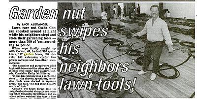 Garden Tools Stolen