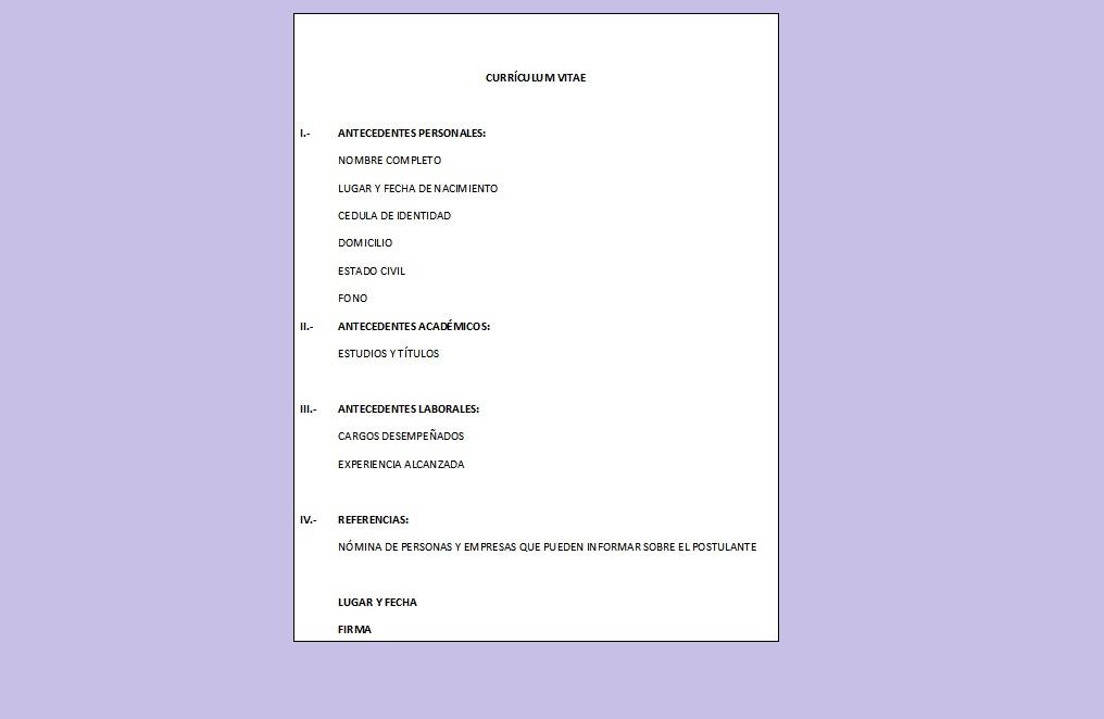 Currículum Vitae Moderno > Ejemplos y Formatos | Mil Formatos