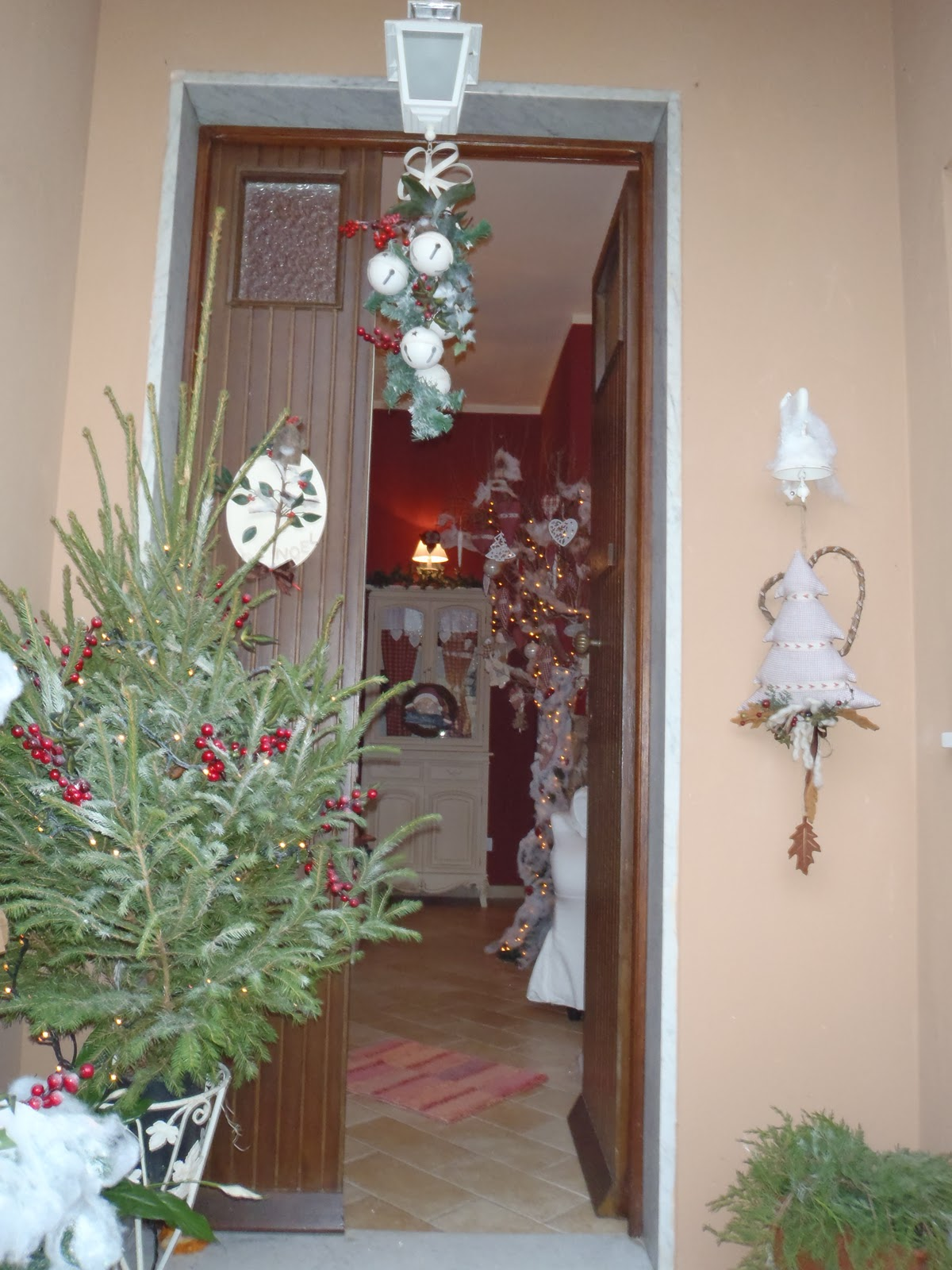 Il gufo e la luna shabby chic country style natale - Natale country decorazioni ...