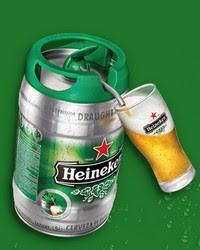 Brinde Gratis Barril de Cerveja Heineken de 5 Litros