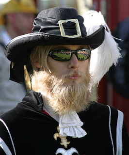 Me with a large beard and a musketeers outfit
