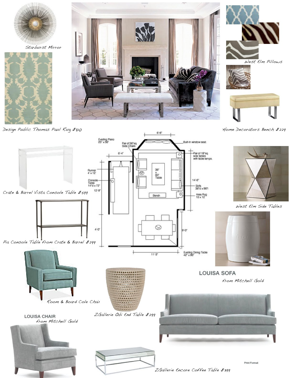 Interior Design Board Layout