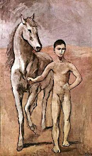Boy leading horse by Picasso