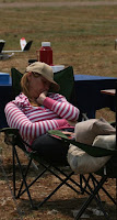 Martie catching up on some beauty sleep while the tuck shop is quiet