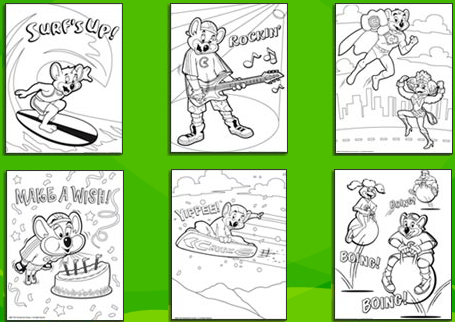 PYP Blog: Free Chuck E. Cheese coloring pages!