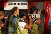 Shooting Kimi Räikkönen
