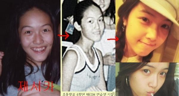 I think she had plastic surgery in nose.. Second,, Jessica.