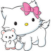 Charmmy Kitty es una gata mascota de Hello kitty. Ella se parece a ...